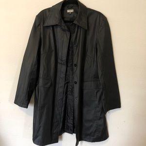 Black rain coat/ trench coat